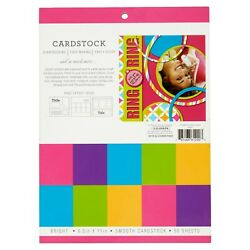 Colorbok Bright Smooth Cardstock Sheets 50 Count