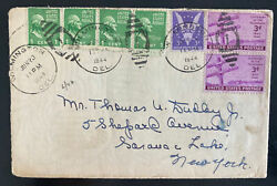 1944 Wilmington De Usa Special Delivery Cover To New York