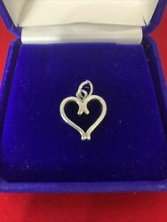 James Avery Sterling Silver Always Forever Heart Charm
