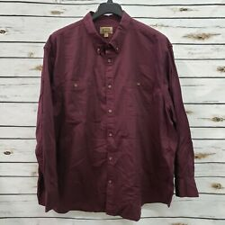 New Foundry Big And Tall 3xlt Mens Shirt Wine Long Sleeve Button Down Pocket