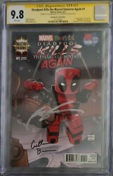 Deadpool Kills The Marvel Universe Again 1 Px Sdcc Signed Cgc 9.8 Rob Liefeld