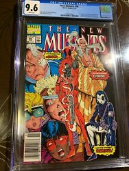 New Mutants 98 Cgc 9.6 Newsstand White Pages - 1st Appearance Of Deadpool