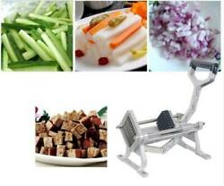 New Manual French Fries Potato Chips Maker Fruit Vegetable Cutter With 3 Blades