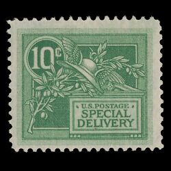 E7 Mint H Special Delivery Cv=65 - Helmet Of Mercury - 1908 Us Stamp - 10 Cent