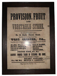 1864 West Chester Pa Original Broadside 21 N Church St Chester County Pa