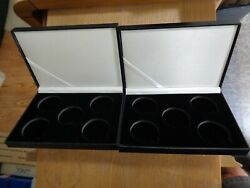 2 Display Cases Only--each Case Holds 5-1 Ounce Silver Coins No Coins Nice K