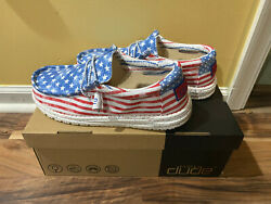 Hey Dude Stars N Stripes Womenandrsquos Patriotic Wendy Wally American Flag Size 5