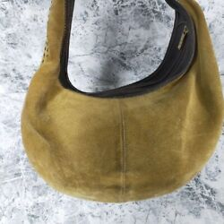 Loewe Shoulder Bag Suede One Handle Inner Pocket Soft Touch Good Condition
