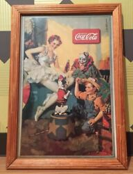 Rare Items Coca Cola Made Of Wood Vintage Art Frame Wall Panel Old American