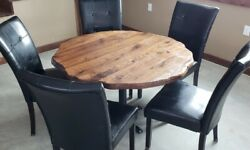 Round Dining Table Top, Rustic Dining Table, Round Table Top, Round Table