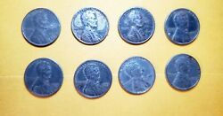 8 No Mint Mark Rare 1943 Silver Steel Wheat Penny Sticks To Magnet
