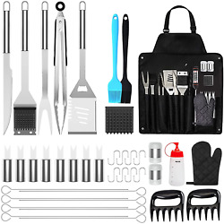 Bbq Grill Accessories 39pcs Tools Set Stainless Steel Grilling Barbecue Case New
