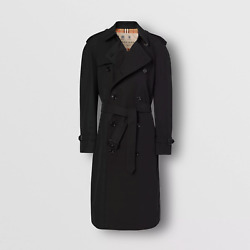 Westminster Extra Long Cotton-gabardine Black Trench Coat In It 54