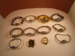 Vintage Mixed Lot Of 12 Citizen Swap Carriage Fashion Wrist Watches Untested