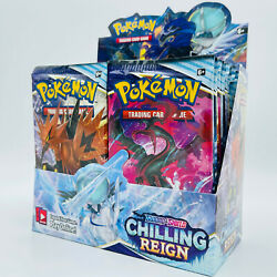 10 Chilling Reign Booster Pack Lot - From A Factory Sealed Pokemon Booster Box