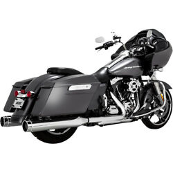 Harley Vance And Hines Torquer 450 Exhaust Chrome 95-16 Touring Slip On