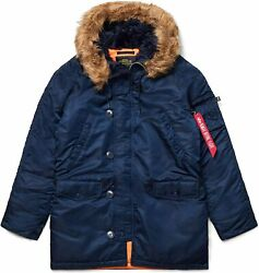 Alpha Industries N-3b Slim Fit Parka - Cold Weather Military Issue