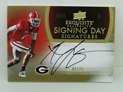 2011 Upper Deck Exquisite Signing Day A.j. Green Georgia Bulldogs Auto 08/15