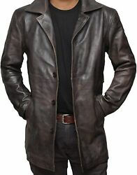 Brown Leather Jacket Men - Natural Distressed Jackets For