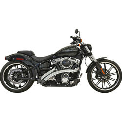Harley Bassani - Exhaust System Radial Sweeper 18-21 Softail Fx Chrome 22 Fat