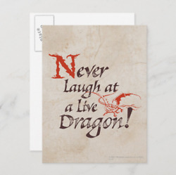 Smaug Never Laugh At A Live Dragon Movie Postcard The Hobbit