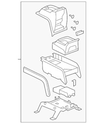 Genuine Gm Console Assembly 22889131
