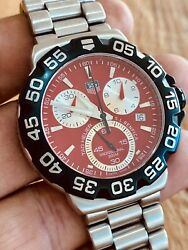 Tag Heuer Formula 1 Red Dial Numbered Ed Cah1114 Benfica Soccer Team Portugal