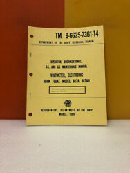 Dept Of The Army Tm 9-6625-2361-14 Voltmeter Electronic Model 887a 887ab Manual