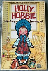 Vintage Original 1975 Holly Hobby Colorforms Dress-up Doll Set In Box