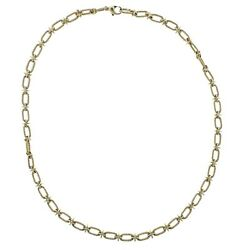 And Co 1970s Link Gold Necklace
