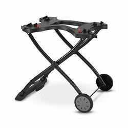 Weber Q Portable Gas Propane Bbq Grill Stand Holder Carry Wheeled Cart Freeship