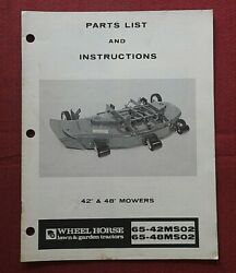 Genuine 1976 Wheel Horse 42 And 48 Mower Deck Operators And Parts Manual