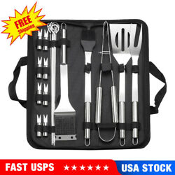 20pc Grill Accessories Set, Griddle Barbecue Tool ,outdoor Bbq Grilling Utensil