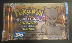 Pokemon The First Movie 8 Topps Trading Cards Sealed Unopened Pack Free Shipping