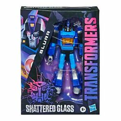 Hasbro Transformers Shattered Glass Idwandrsquos Deluxe Class Blurr Action Figure