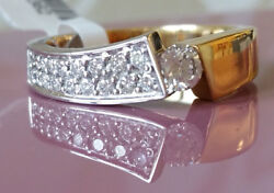 Womenand039s Ring Made Of Gold With Diamonds 20405