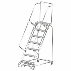 Ballymore Rolling Ladder Overall Height 103 In Steps 7 Cap 450 Lb