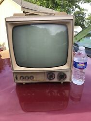 Vintage Emerson Tv Retro Gaming Television Rare Mid Century Look Space Age Works