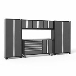 Newage Products Gray Bold Series 6 Piece Complete Storage System 7 Shelves