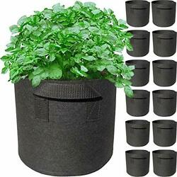 12 Pack 1 Gallon Grow Bags With Handles Garden Vegetable Flower Grow Bags Non...