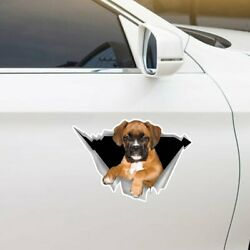Boxer Car Stickers Dogs Lover Car Sticker Gift Pet Crack Decal Plastic 12X12quot;
