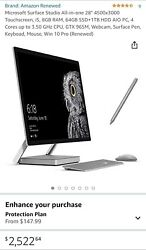 """Microsoft Surface Studio All-in-one 28"""" Renewed With Keyboard, Mouse, Pen"""