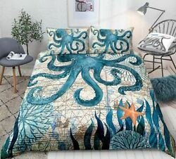 Marine Animal Motorcycle Pictures Bedding Set High-definition Print Quilt Cover