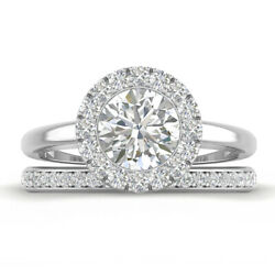 1.5ct D-si1 Diamond Halo Engagement Ring 950 Platinum Any Size