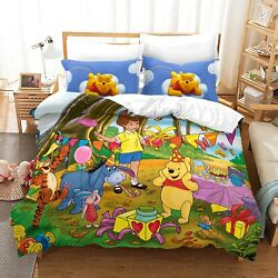 Winnie The Pooh Duvet Cover Bedding Set Comforter Quilt Cover With Pillowcase 03