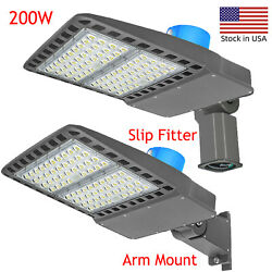200w Led Shoebox Lights With Dusk To Dawn Photocell,commercial Led Street Light