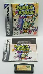 Bubble Bobble Old And New Nintendo Game Boy Advance 2004 Rare Gba Complete