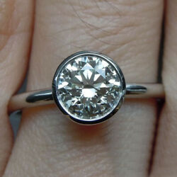 0.5 Carat Real Round Diamond Bridal Engagement Ring Solid 950 Platinum All Size