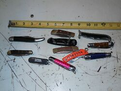 Lot Of 11 Folding Pocket Knives - Nos And Used - Mostly Single Blade