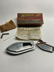 Vintage 40s The Wonder Jet Steam Propelled Toy Boat With Box By Hoffman Manuf Co
